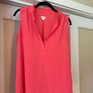 Fuscia J. Crew sleeveless blouse
